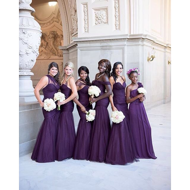 """Stunning!  these dresses by @watterswtoo and @lovellabridal. Photo by @verosuh. #BeRiedel2015 #onpointbridesmaids"""