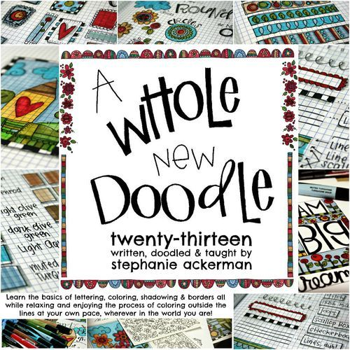 Lettering and Doodling class - Stephanie Ackerman wish list