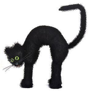Cat with Green Eyes Prop - 331865   trendyhalloween.com #halloween #cats #blackcat
