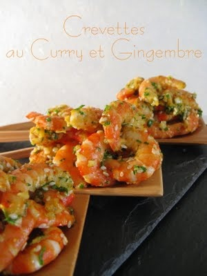 Crevettes au Curry & Gingembre