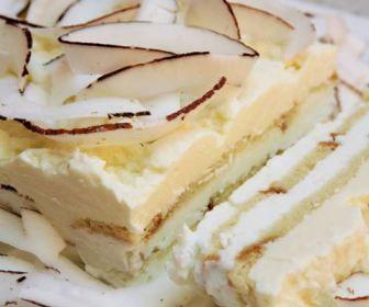 Receita de bolo prestigio com mousse de coco - Show de Receitas