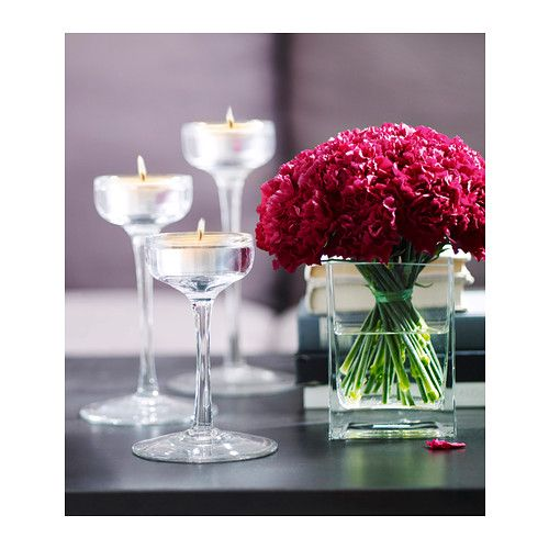 BLOMSTER Candle holder, set of 3 IKEA Can be used both with candles in metal cups and with tealights.