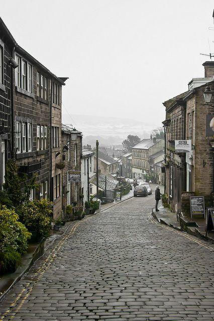 Main Street, Haworth • Haworth, West Yorkshire, England • photo by Dave Gunn