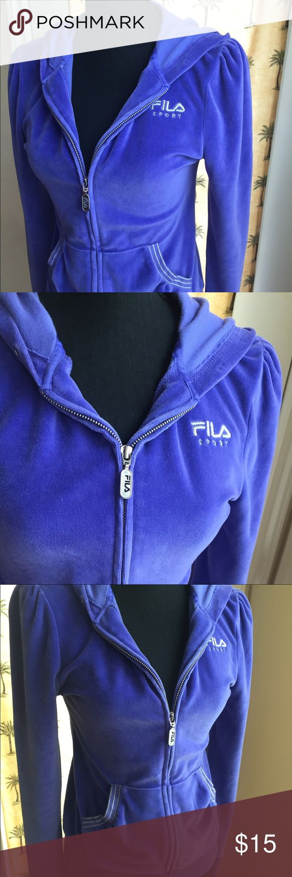 """FILA Purple Zip-Up Hoodie Sweatshirt Jacket Small FILA - Women's exercise athletic work out gear, tracksuit / sweat suit purple zip-up hoodie jacket sweatshirt. Excellent condition with no flaws. Regular size small. Press """"Add to a Bundle"""" for a private discounted offer 😉 Fila Tops Sweatshirts & Hoodies"""