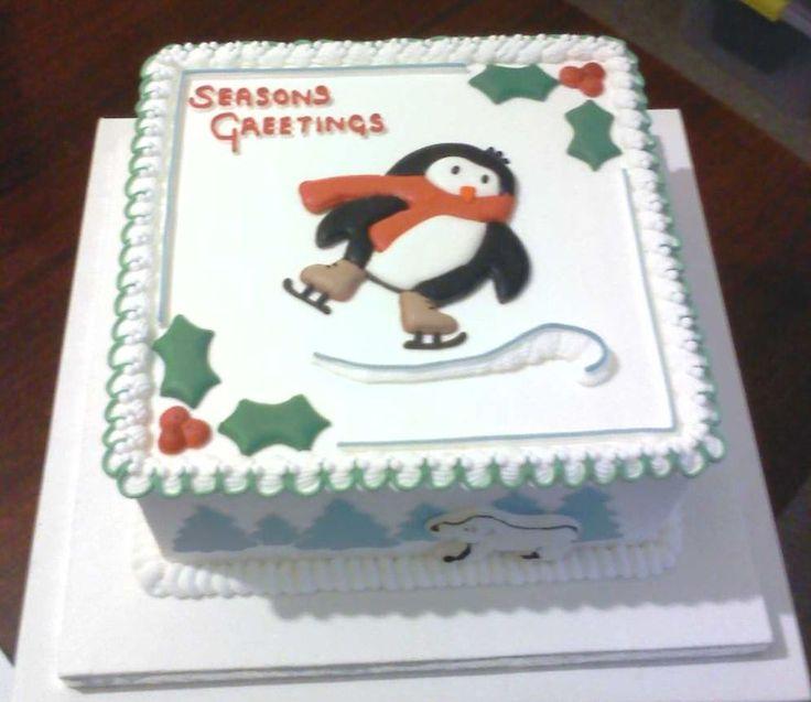Fun #Christmas #Penguin runout cake.