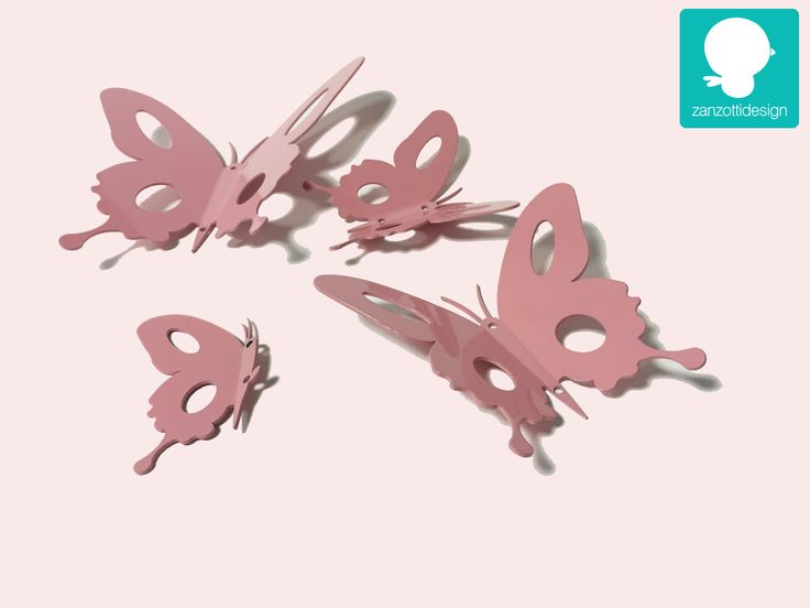 Party favor or Butterfly Decorations for kids Room by Zanzotti Design   Seemore on www.zanzottidesign.com