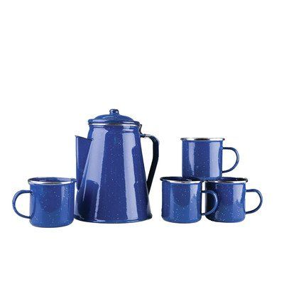 TheCoffeeBay.com | Stansport 8 Cup Enamel Percolator with Four ...