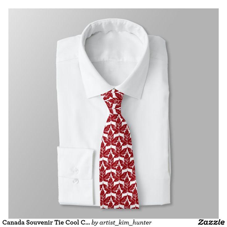 Canada Souvenir Tie Cool Canada Maple Leaf Tie
