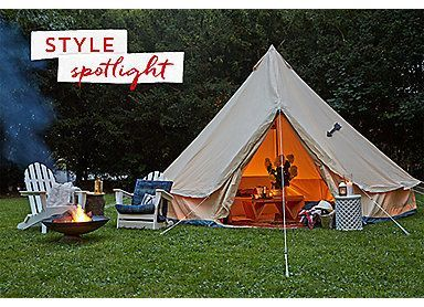 Meriwether Tent, Slate | Set the Scene | One Kings Lane