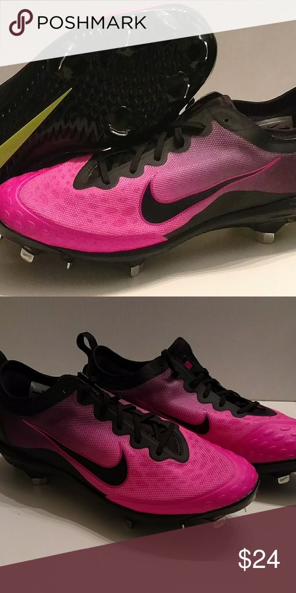 NIKE HYPERDIAMOMD CLEATS NEW WITHOUT BOX NIKE PINK HYPERDIAMOND METAL CLEATS . MENS OR WOMENS SIZE 12 NIKE Shoes Athletic Shoes