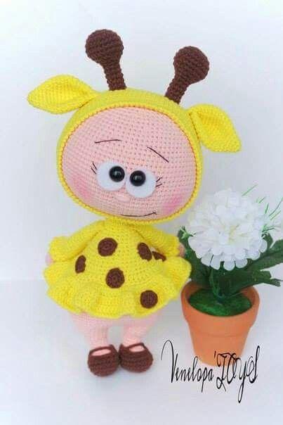 Bonnie met giraffen jurkje