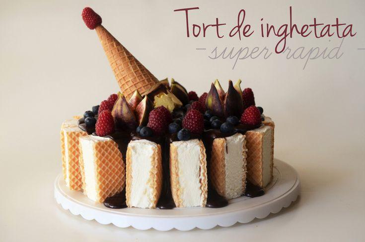 Tort de inghetata super rapid - Retete culinare by Teo's Kitchen
