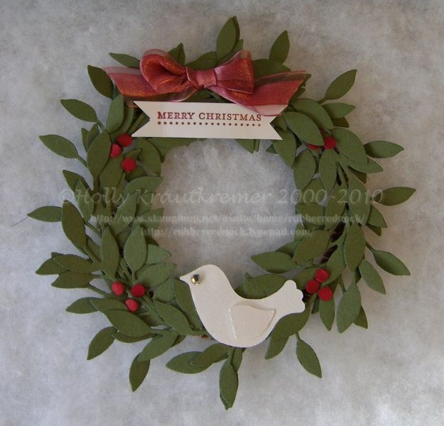 Stampin Up Christmas Wreath | Found on stampinconnection.com