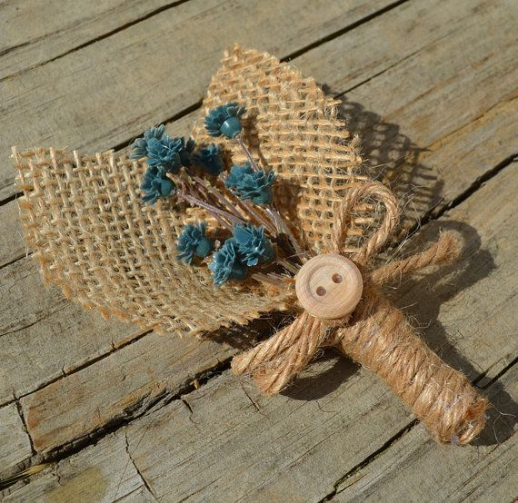 Look like an easy DIY project, I live that blue!  http://www.etsy.com/listing/153664504/rustic-boutonniere-blue-flowers-and