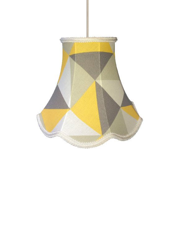 *other geometric prints available* *SOLD* This listing is for a geometric  contemporary  Pendant Light FittingHandmade LampshadesLight ...