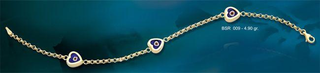 14K SOLID GOLD EVIL EYE GOOD LUCK CERAMIC LOVE BRACELET BSR009 #BeeloGold #Chain