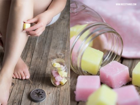 DIY Zucker-Zitronen-Peelingwürfel - 12 GOLD Gastgeschenketipps   * Nicest Things: DIY Zucker-Zitronen-Peelingwürfel - 12 GOLD Gastgeschenket... Mit Olivenöl