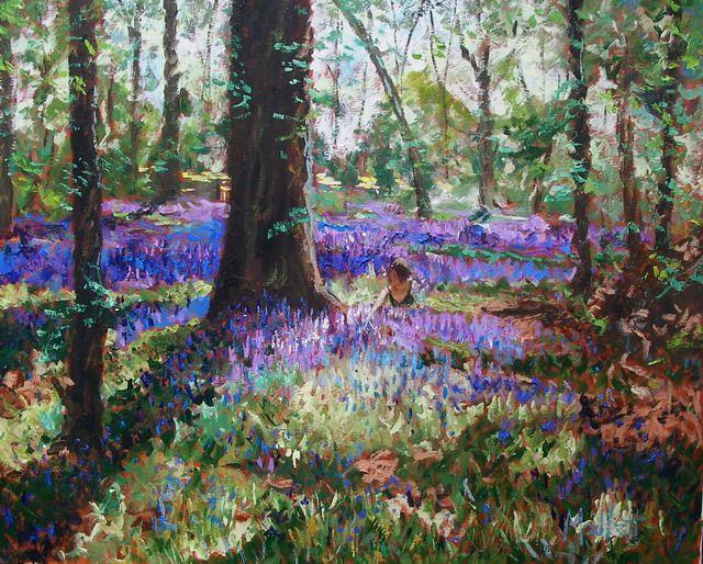 Timmy Mallett - Interests - Painting - Adoring bluebells