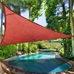 16.5' Triangle Outdoor Sun Shade Sail Canopy Red - TheLaShop