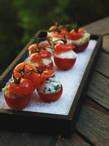 Recette Tomates cerises aux 4 surprises