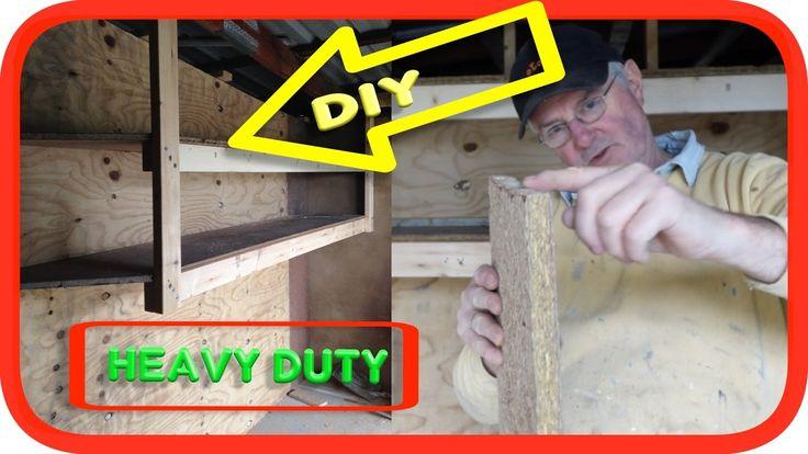 Suspended Built-In Heavy Duty Garage Shelves | How to DIY #diy #shelves