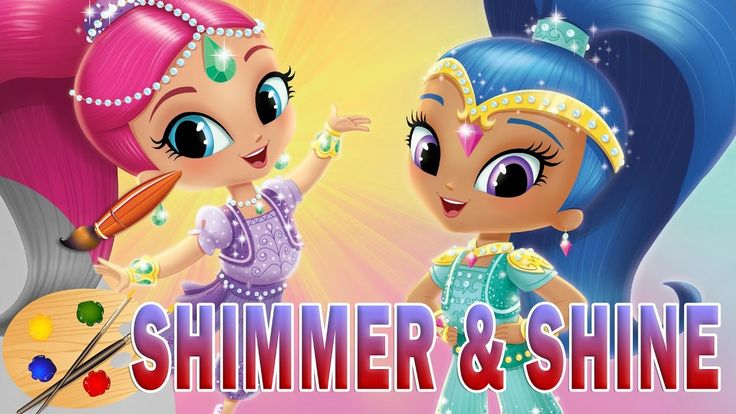SHIMMER and SHINE Coloring Book Pages Nickelodeon Videos Brilliant Kids ...