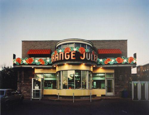 Orange Julep,Montréal, 1985 —.it's a Montréal institution !!!.... photo Gabor Szilasi.
