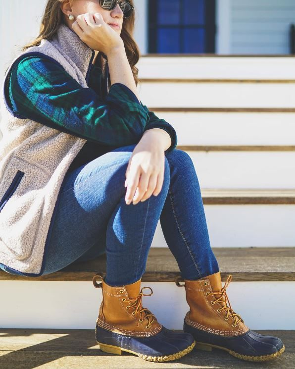 We're checking in with fans and friends around the country this week to see how they're wearing their fall flannel. Blogger Krista Robertson found the perfect mix of fall layers and L.L.Bean Boots. (Photo Instagram: kristarobertso) L.L.Bean Scotch Plaid Flannel Shirt.