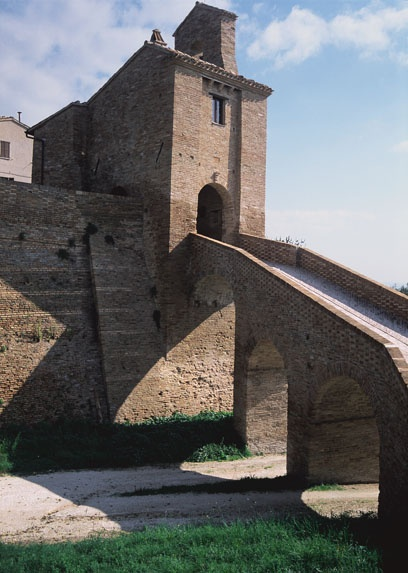 Arcevia, an ancient city on the top of a hill in Marche (Italy)