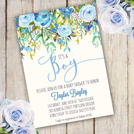 Whimsical Boy Baby Shower Invitation Boy baby shower door StudioPip