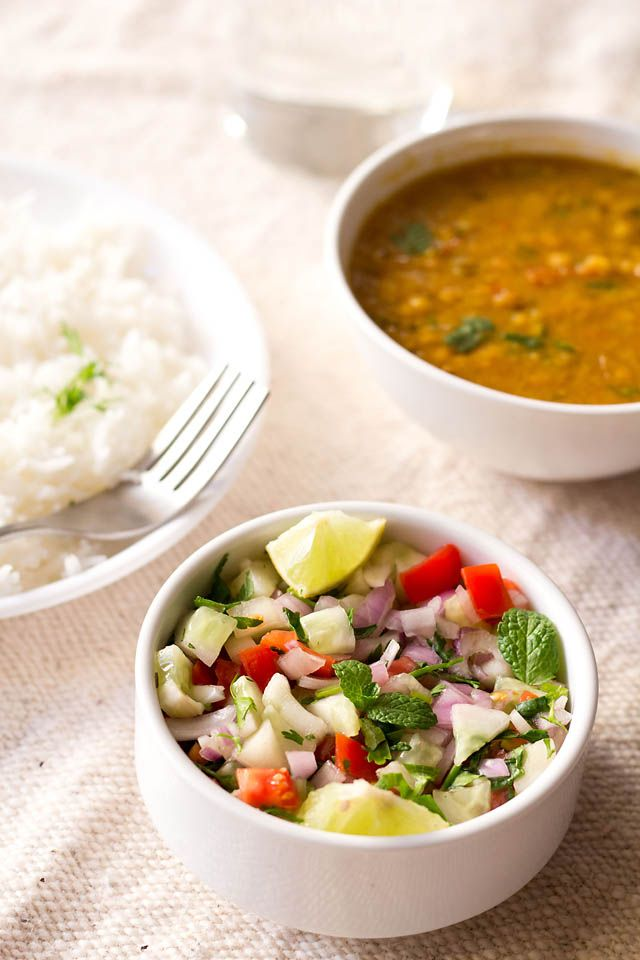 Indian cucumber salad (basic salad but I need to remember to make this when I make Indian food)