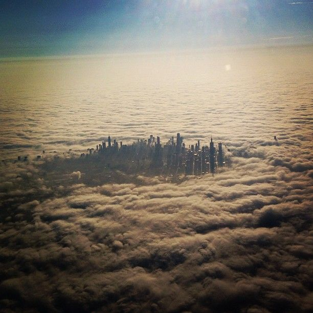 In this fantastic capture by @sharpmagunda on Instagram, we see Chicago from high above with skyscrapers soaring above the clouds. Chicago is the third most populous city in the United States after New York and Los Angeles. This is just another reason to always get the window seat when flying!