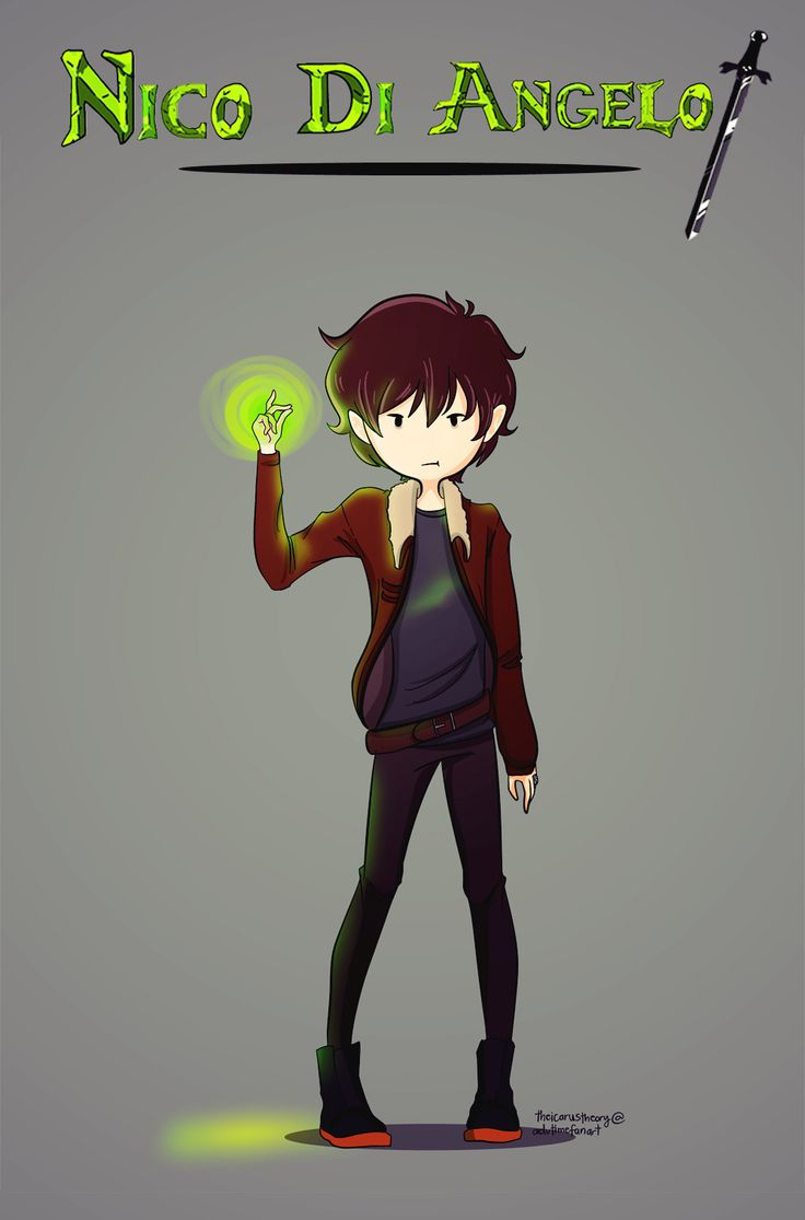 Nico from the Percy Jackson series in Adventure Time style -> HE LOOKS LIKE MARSHALL LEE OH MY GLOB!!!!!!! *drools and faints*
