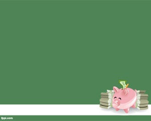 Piggybank PowerPoint Template is a free piggy bank image for PowerPoint with bills