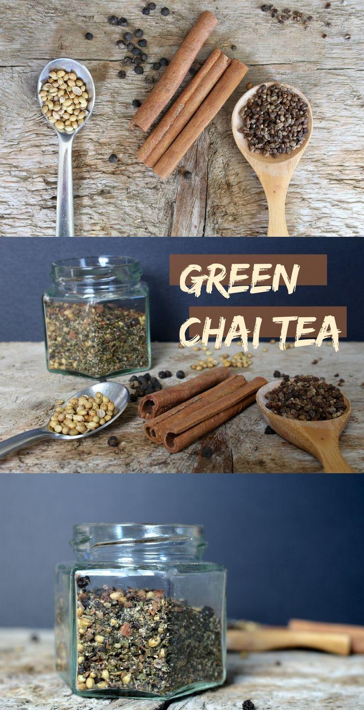 Homemade chai tea using green tea leaves for an extra antioxidant boost.