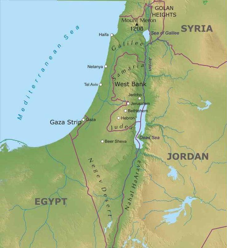 Risultati immagini per cartina fisica palestina