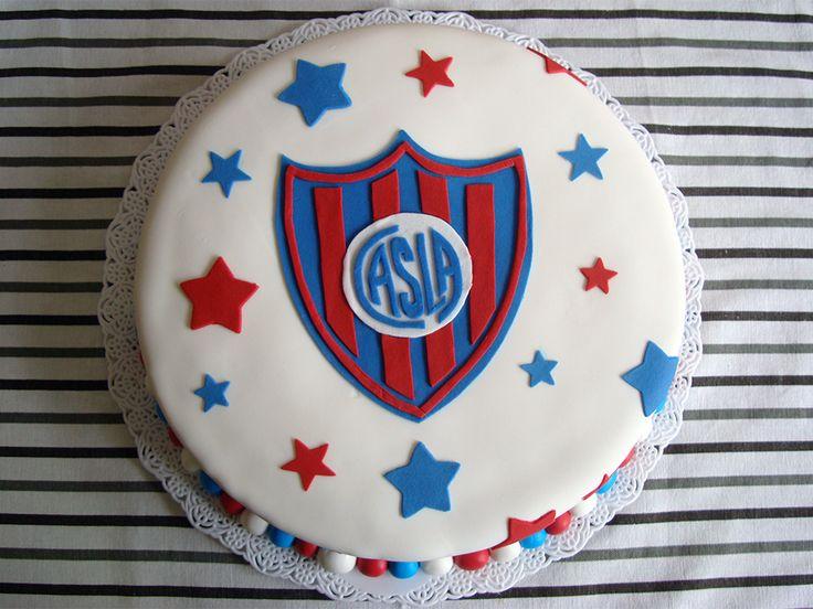 Torta de San Lorenzo, vainilla, dulce de leche y buttercream. ¡Una delicia! #sanlorenzo #cake #birthdaycake #futbol #reinadevainilla