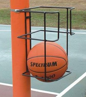 basketball storage solution. Keith should make a bigger version of this for all the boys balls :)