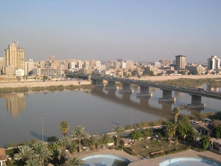 Baghdad, Iraq: Baghdad بغداد, Baghdad Bridge, Baghdad بغـــــداد, Tigris River, Photo, City, Middle East