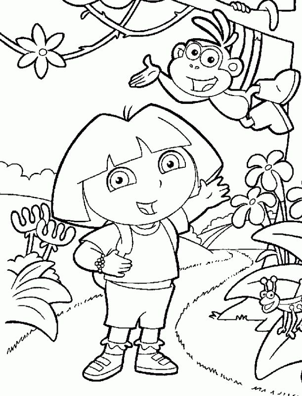 dora the explorer nick jr coloring pages