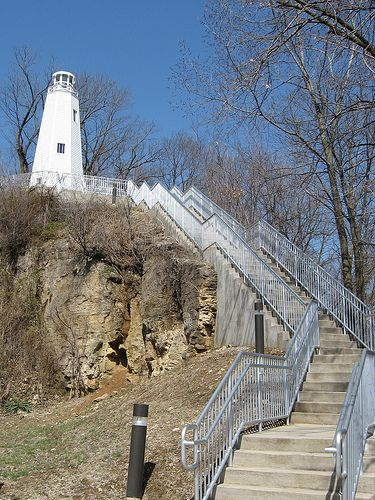 Light House on Cardiff Hill at Hannibal, Missouri.