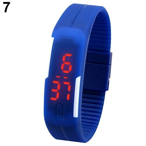 Men's Women's Silicone Red LED Sports Bracelet