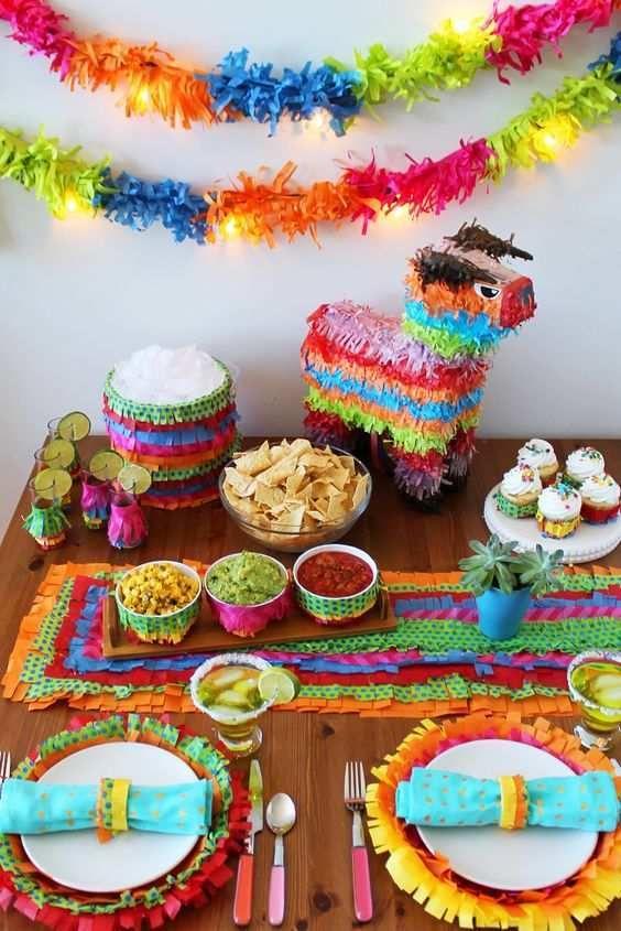 como decorar una fiesta mexicana
