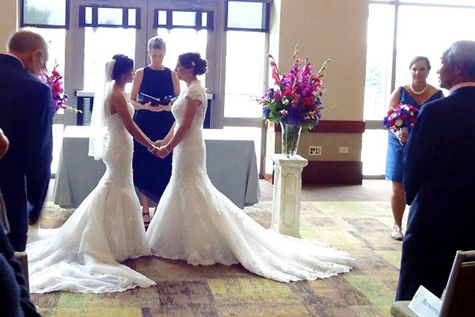 Vows Wedding Dresses Nyc : Love on lesbian wedding marry me and kiss