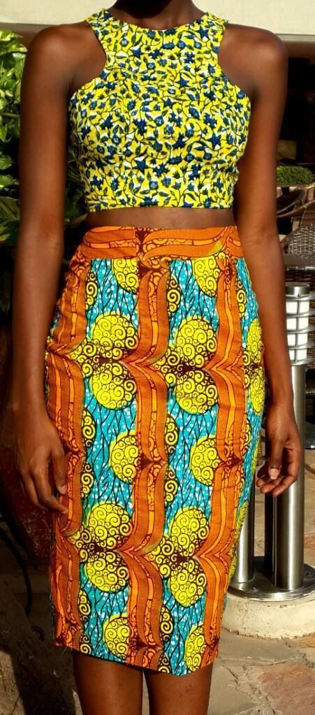 Saia e blusa ♥African Fashion