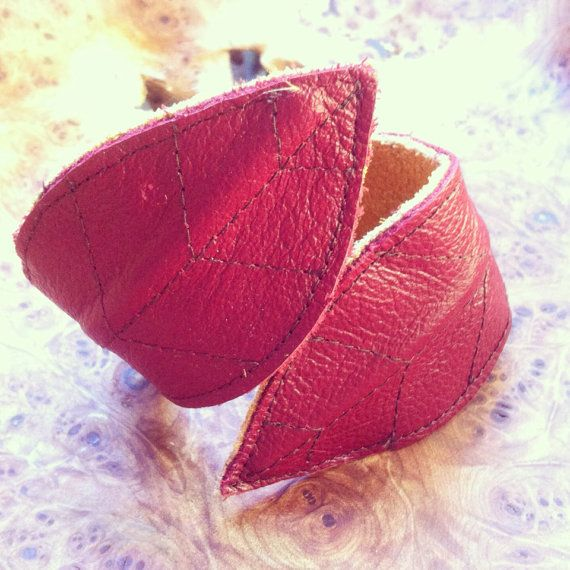 Pixie leather leaf cuff on Etsy, $34.00 CAD