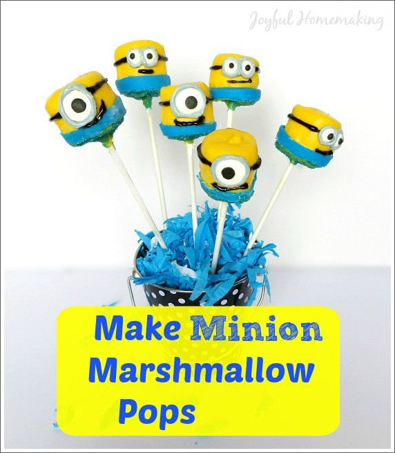 Find the 7th Minion and Make a Minion Marshmallow Pop