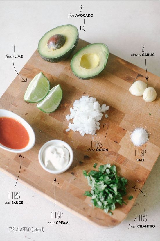 Cut the avocado in half. Twist to remove the pit. Scoop out the pulp. Place in a medium-size bowl and mash the avocado with a fork so that the mixture is a bit chunky. Add all other ingredients and give a good stir, but don't overdo it. Serve with tortilla chips.