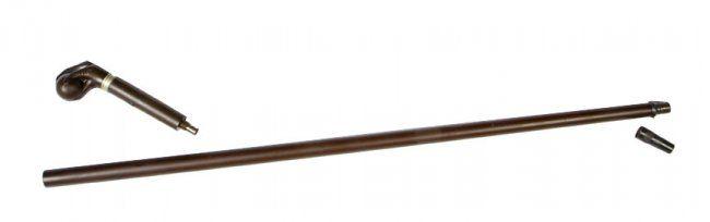 Remington gun cane, ca. 1859. The rarest Remington gun cane, gutta percha handle and shaft, 44 caliber percussion. Overal lenght 35 inches