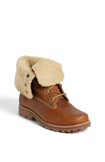 Timberland Genuine Shearling Boot (Toddler, Little Kid & Big Kid) available at #Nordstrom